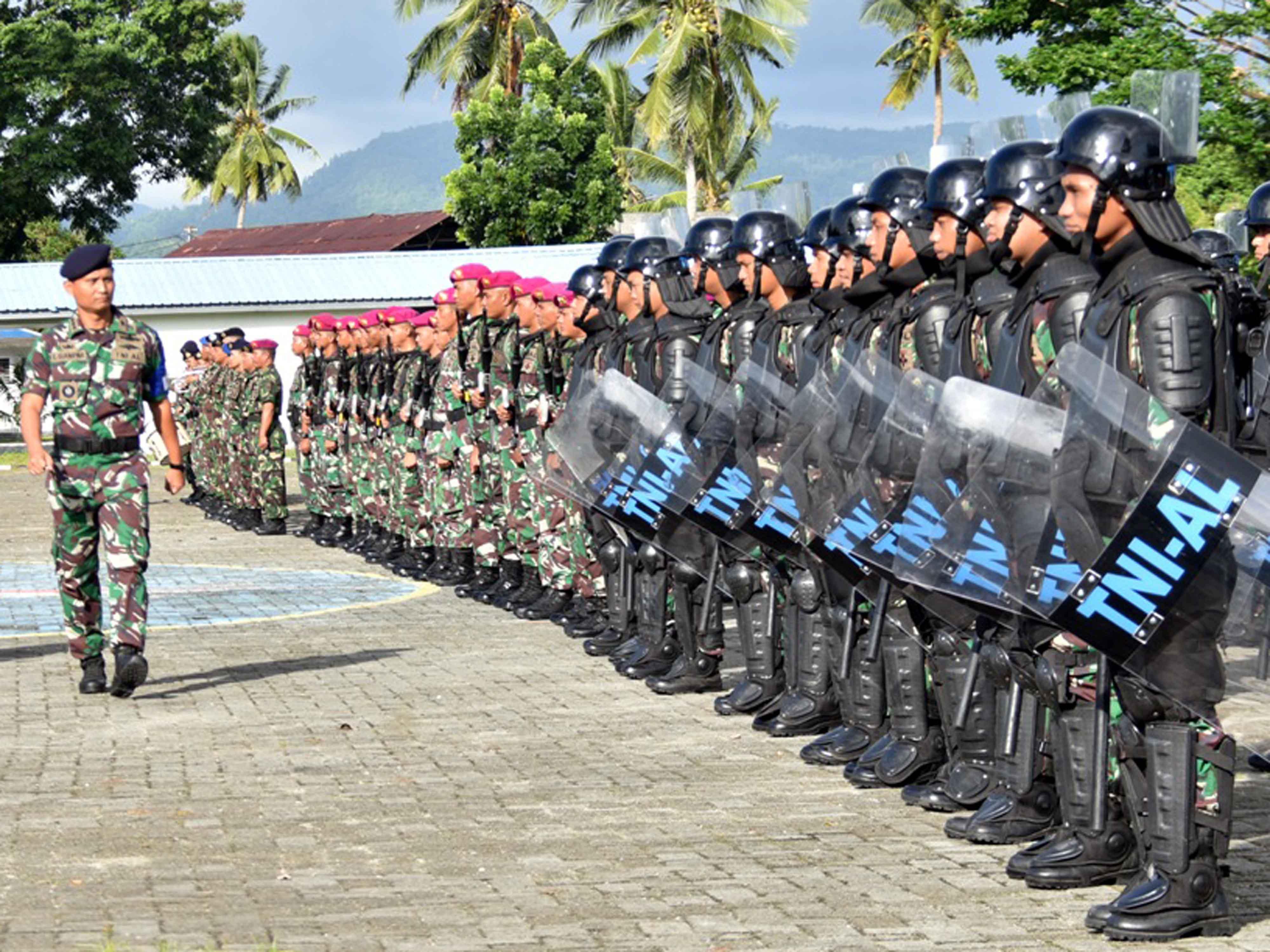 Lantamal IX Gelar Latpratugas Pengamanan Pemilu