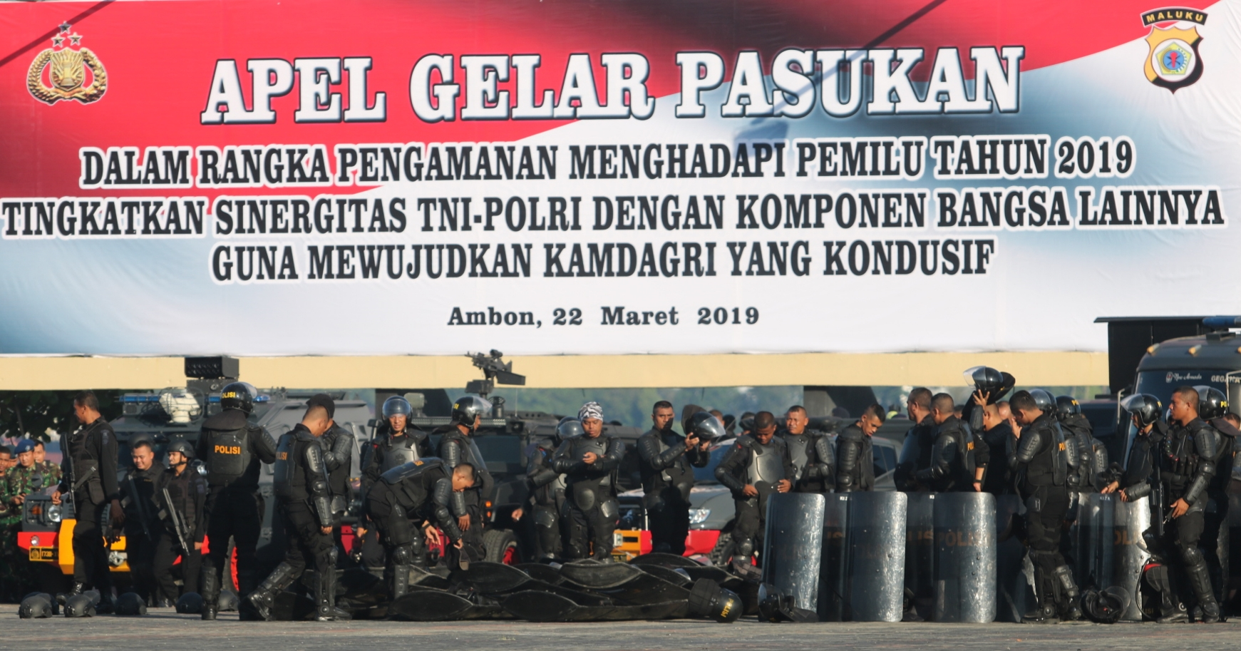 Polda Maluku Gelar Apel Pasukan Pengamanan Pemilu