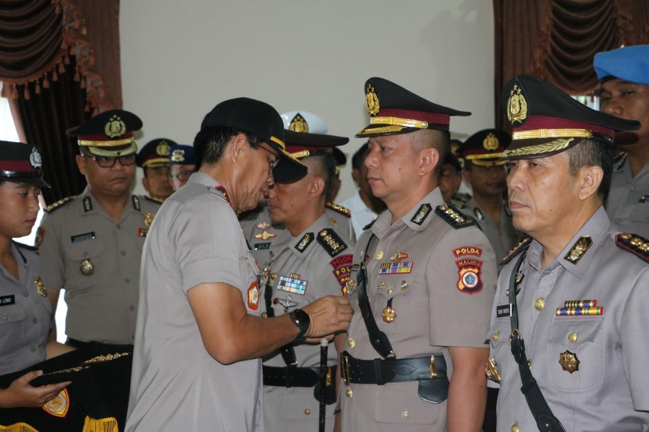 Kapolda Pimpin Sertijab Pejabat Polda Maluku