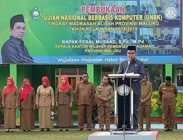 2.188 Siswa MA se-Maluku Ikut UNBK