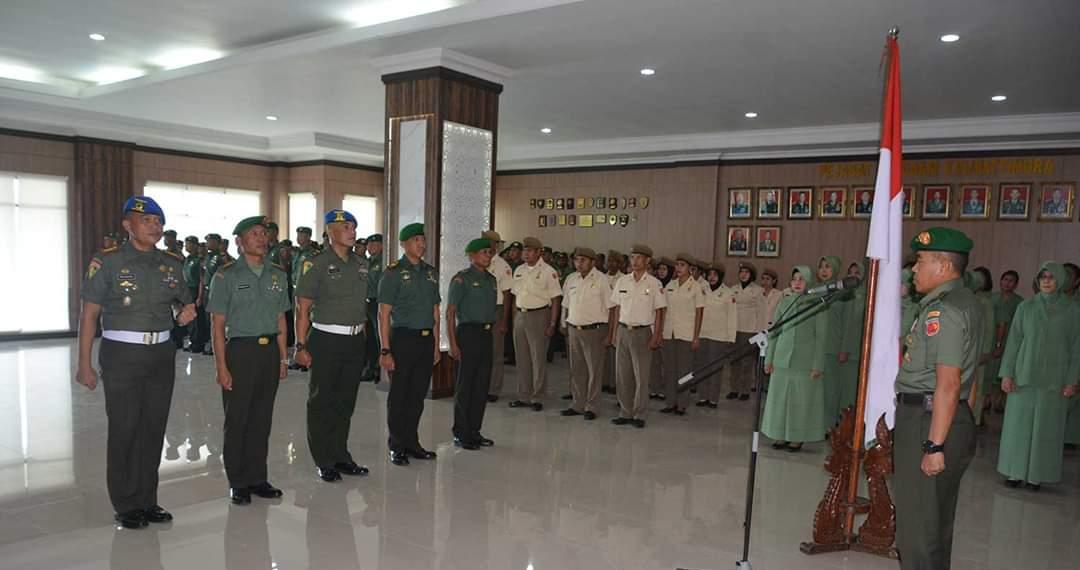 551 Personel Kodam Pattimura Naik Pangkat