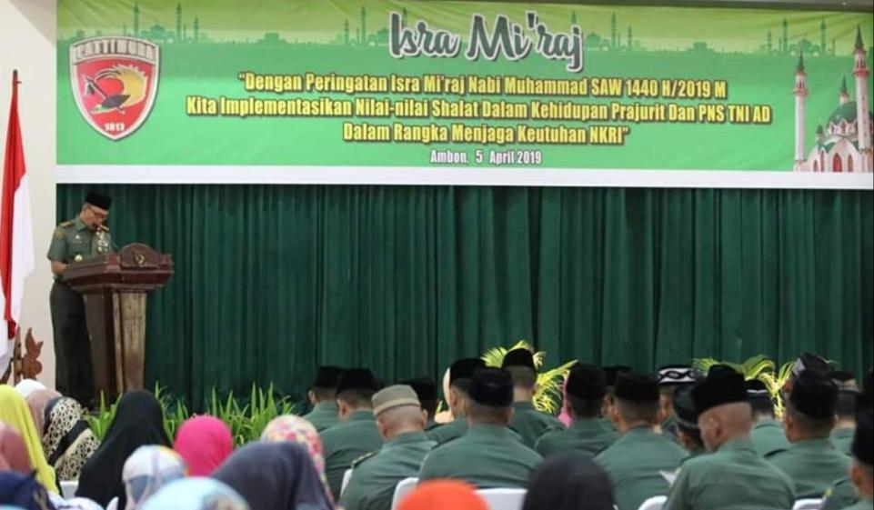 Kodam Pattimura Peringati Isra Mi'raj Nabi Muhammad SAW