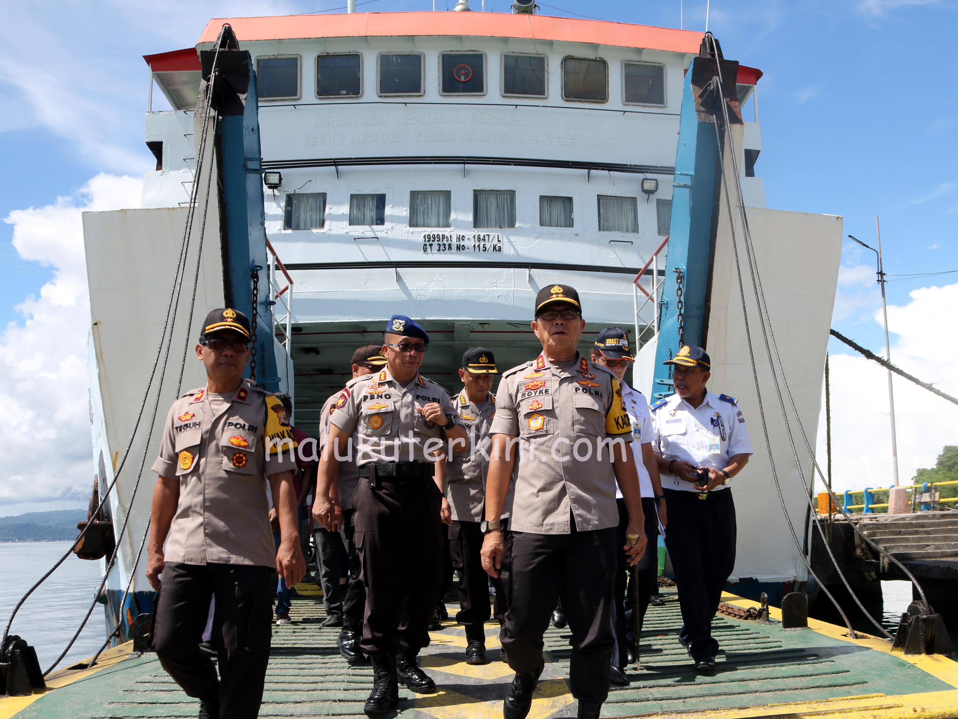 Kapolda Maluku Tinjau Kesiapan Angkutan Lebaran