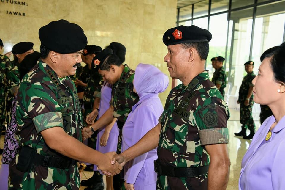 Sembilan Perwira Tinggi TNI Naik Pangkat, Dominggus Pakel Bintang Satu