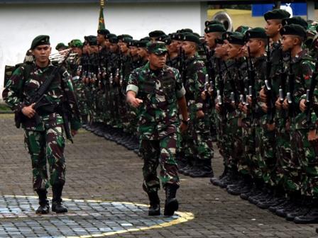 500 Prajurit Yonif Raider Khusus 136/Tuah Sakti Tiba di Ambon