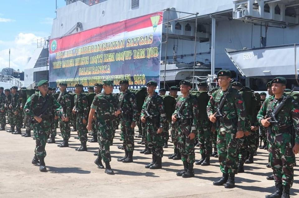 Galeri Foto Pemberangkatan Prajurit Raider Khusus ke Maluku