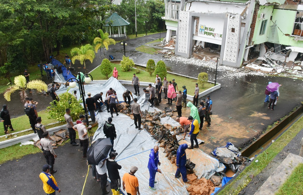 Tanggap Darurat Tanah Bergerak di IAIN Ambon, Dinas PUPR Maluku Alihkan Alur Air