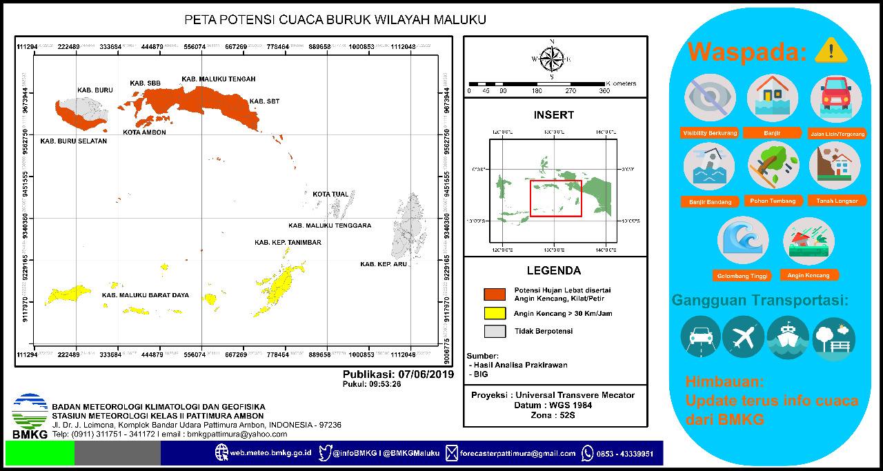 Waspadai Cuaca Buruk di Maluku, BMKG: Curah Hujan Juni – Agustus Tinggi