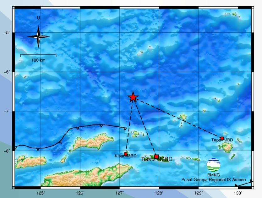 Gempa Bumi M 4,3 Guncang Banda