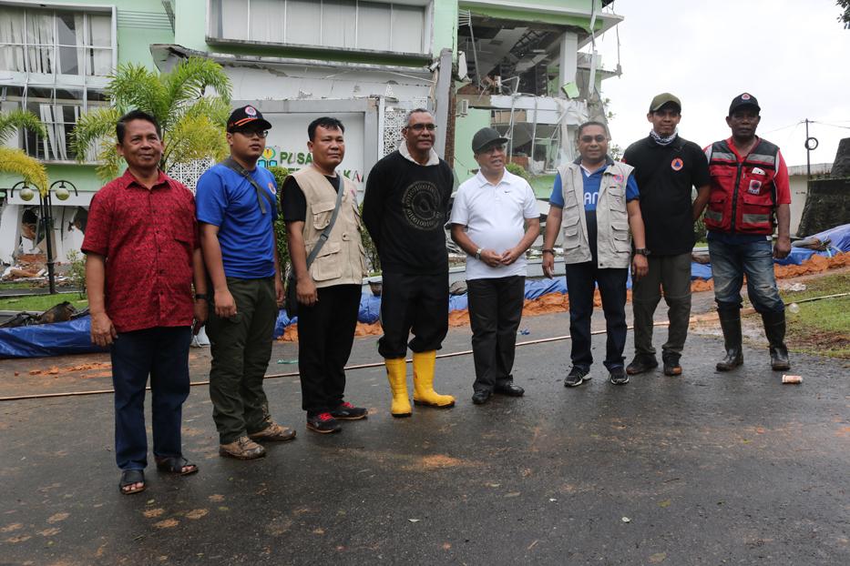 Tim BNPB Tinjau Kondisi Tanah Bergerak di IAIN Ambon