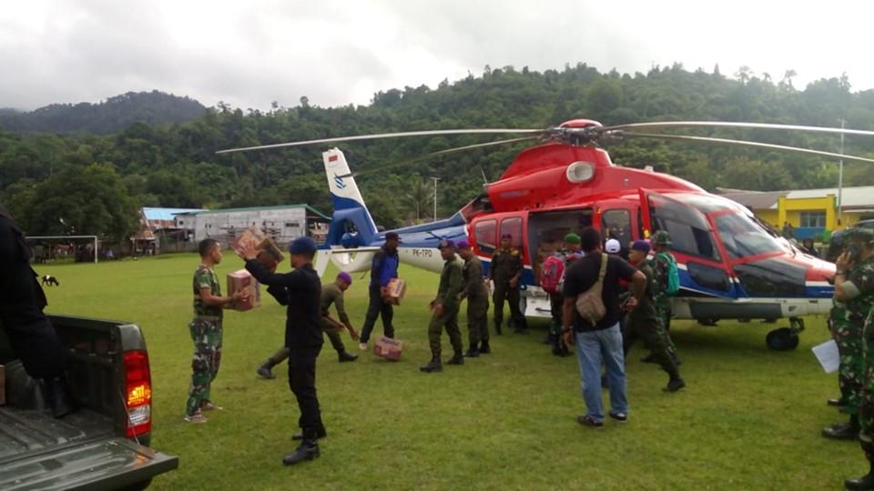 Satgasgulbencal Percepat Penyaluran Bantuan ke Korban Gempa Halmahera