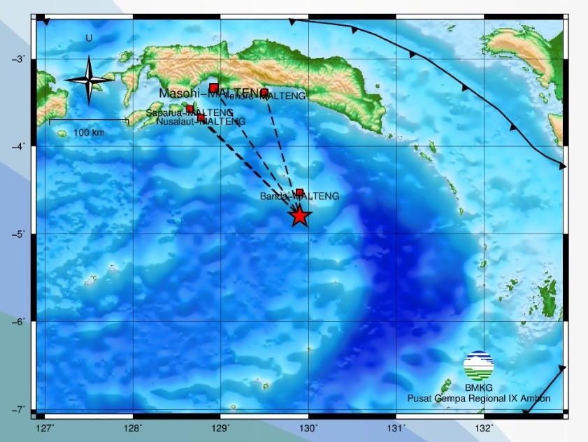 Gempa Bumi M 4,2 Guncang Banda