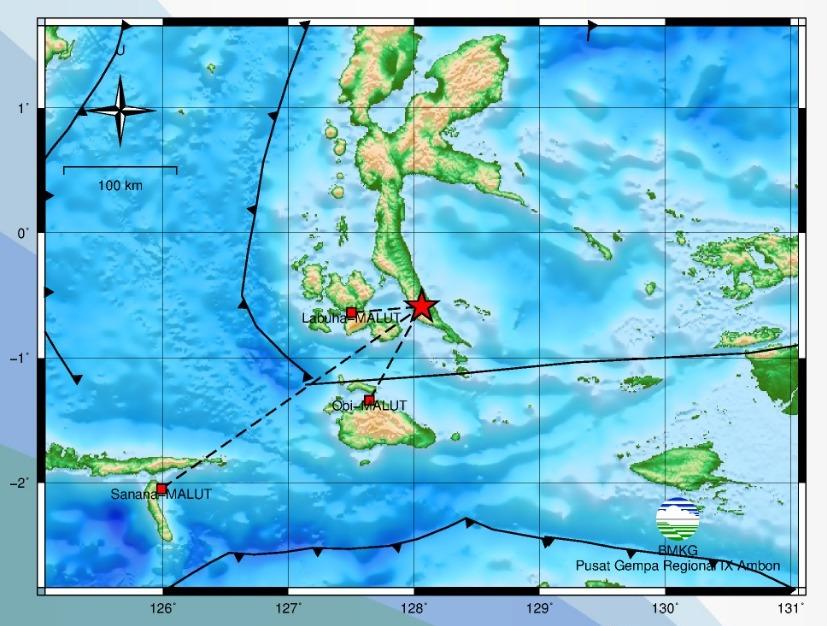 Gempa Bumi Tektonik M 7,2 Guncang Kabupaten Halmahera Selatan