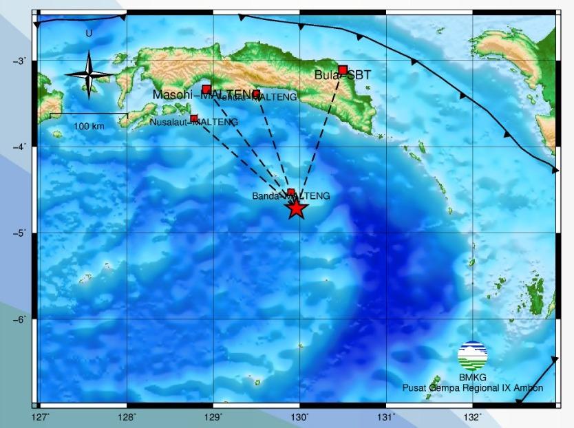 Gempa Bumi M 3,2 Guncang Banda