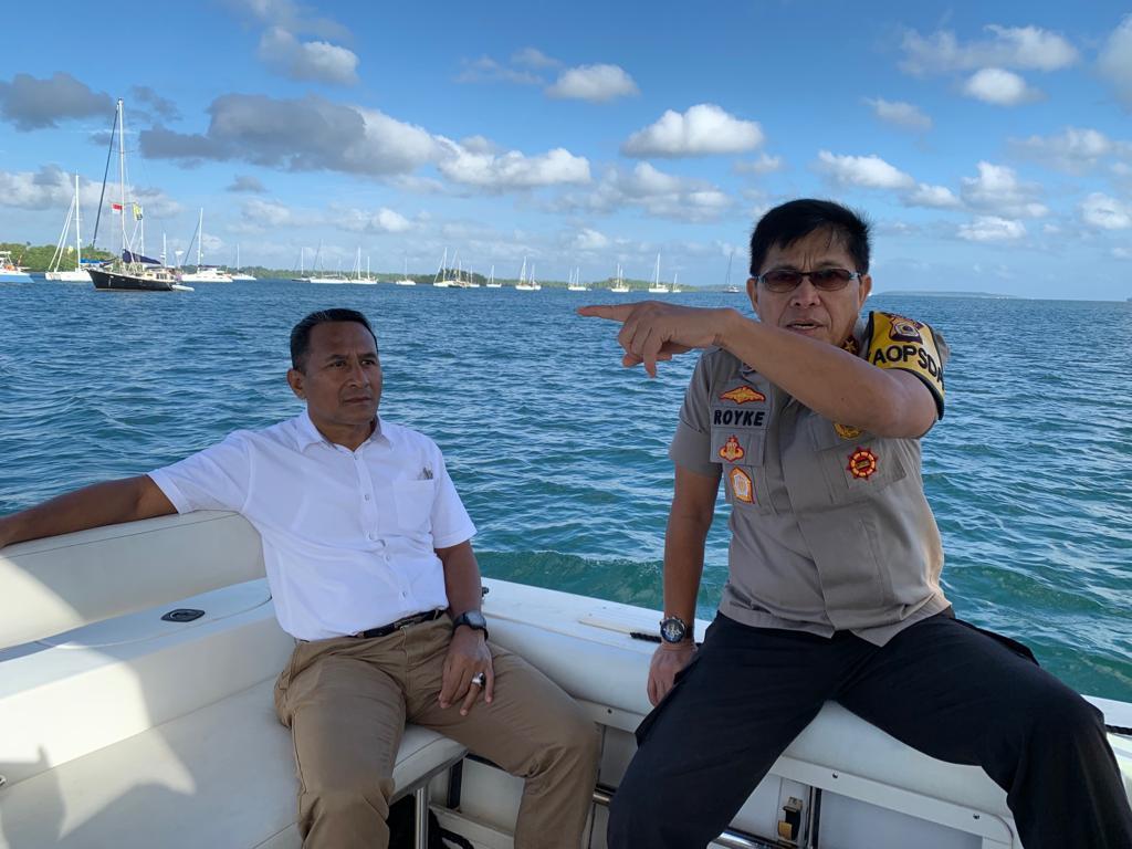 Kapolda Maluku Tinjau Pengamanan Wonderfull Sail 2 Indonesia