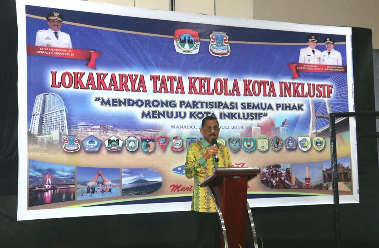 Buka Lokakarya APEKSI Komwil VI, Wali Kota Ambon Ajak Bersinergi Bangun Kota Inklusif