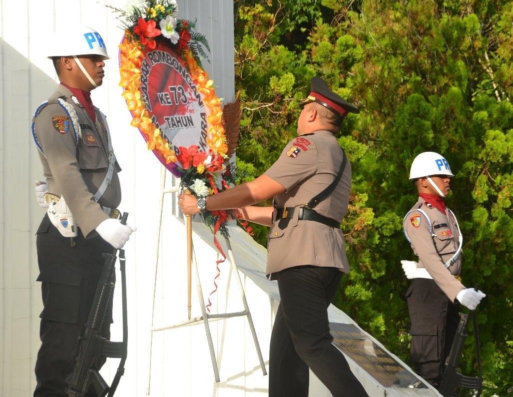 Peringati Hari Bhayangkara, Polres Ambon Ziarah ke TMP Kapahaha