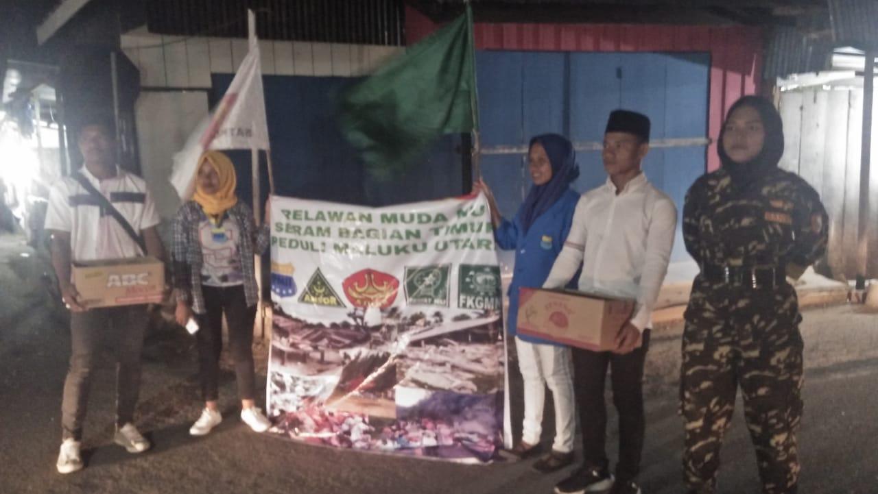 Donasi dari SBT Untuk Korban Gempa Halmahera