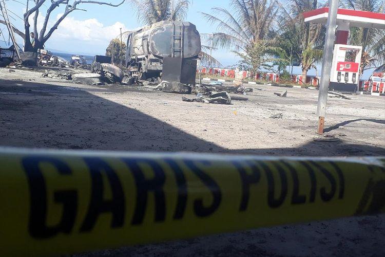 Truk Tanki Terbakar di SPBU, 1 Orang Terluka