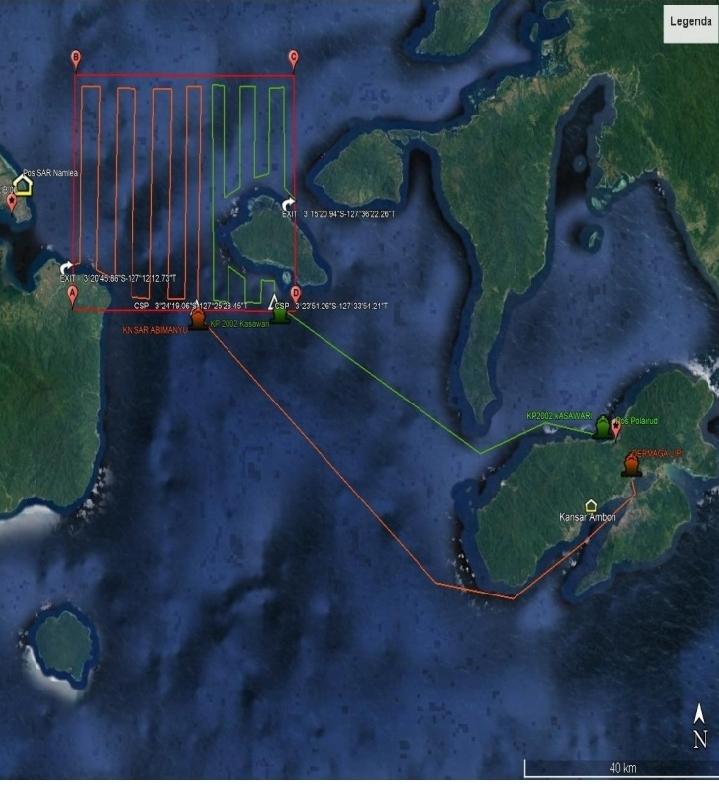 Hari Pertama Pencarian, Penumpang KM Tidar Yang Jatuh di Laut Belum Ditemukan