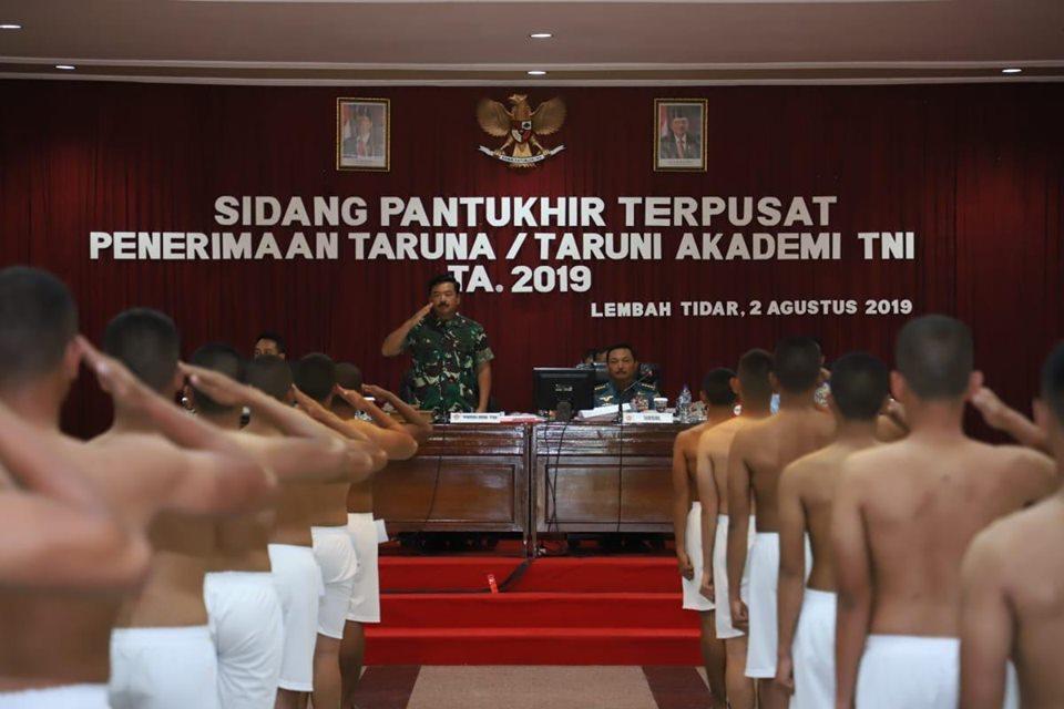 Panglima TNI Pimpin Sidang Pantukhir Catar Akademi TNI