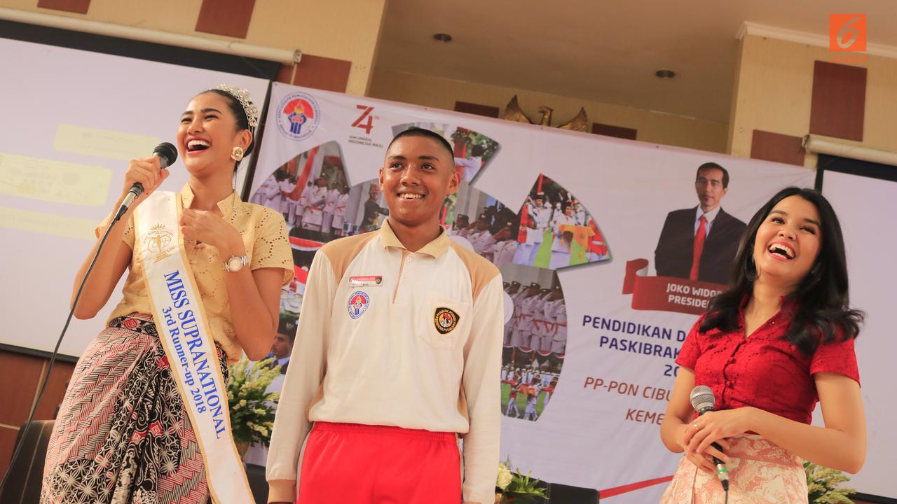 Miss Supranational 2018 dari Indonesia Tersihir Senyuman Manis Paskibraka Nasional 2019 Asal Maluku