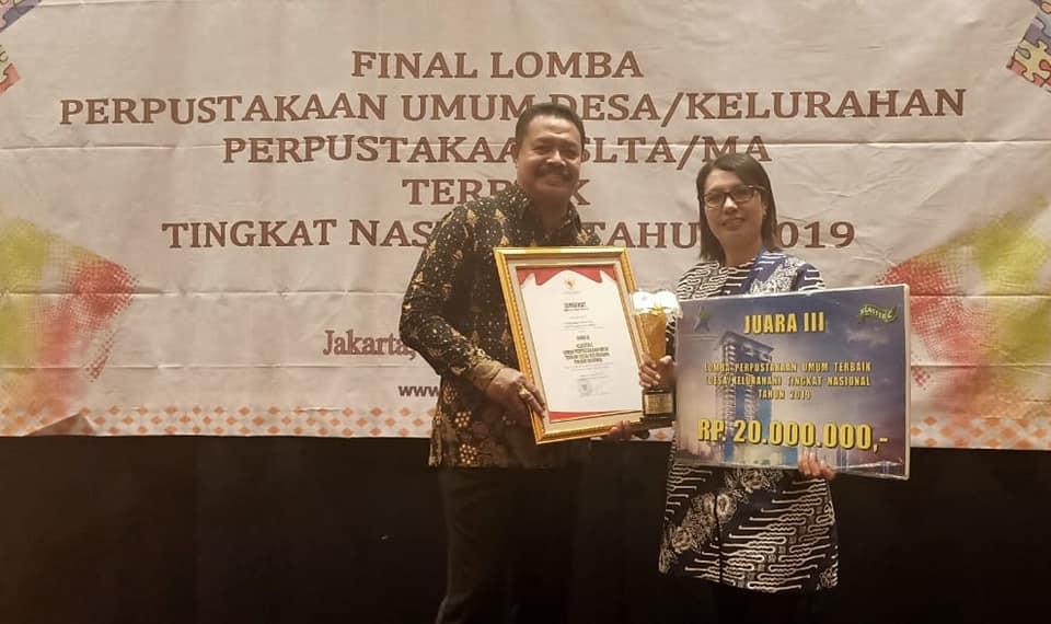 Desa Hunuth Raih Juara 3 Perpustakaan Terbaik Tingkat Nasional