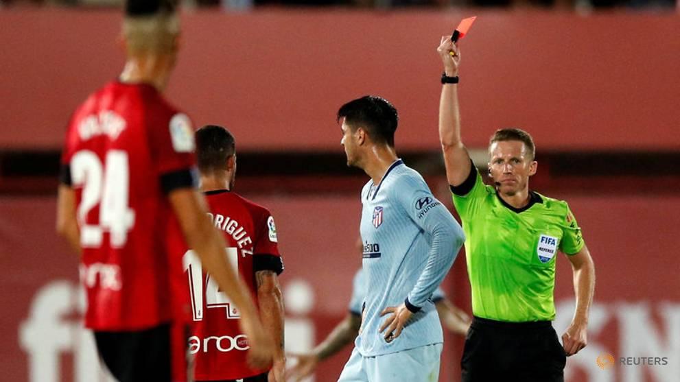 Liga Spanyol: Atletico Ungguli Mallorca 2-0, Morata Kartu Merah