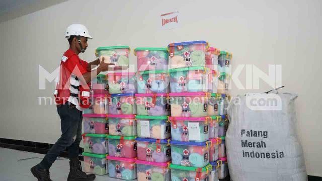 Bantuan Tanggap Darurat PMI Tiba di Ambon