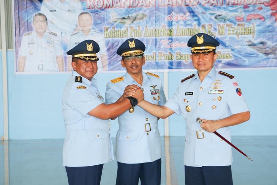 Kolonel Sapuan Resmi Jabat Danlanud Pattimura
