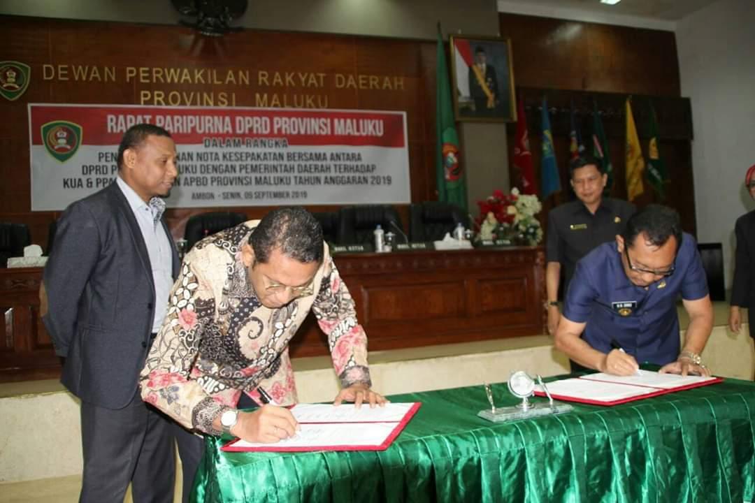 DPRD dan Pemprov Maluku Sepakati KUA-PPAS APBD-P 2019