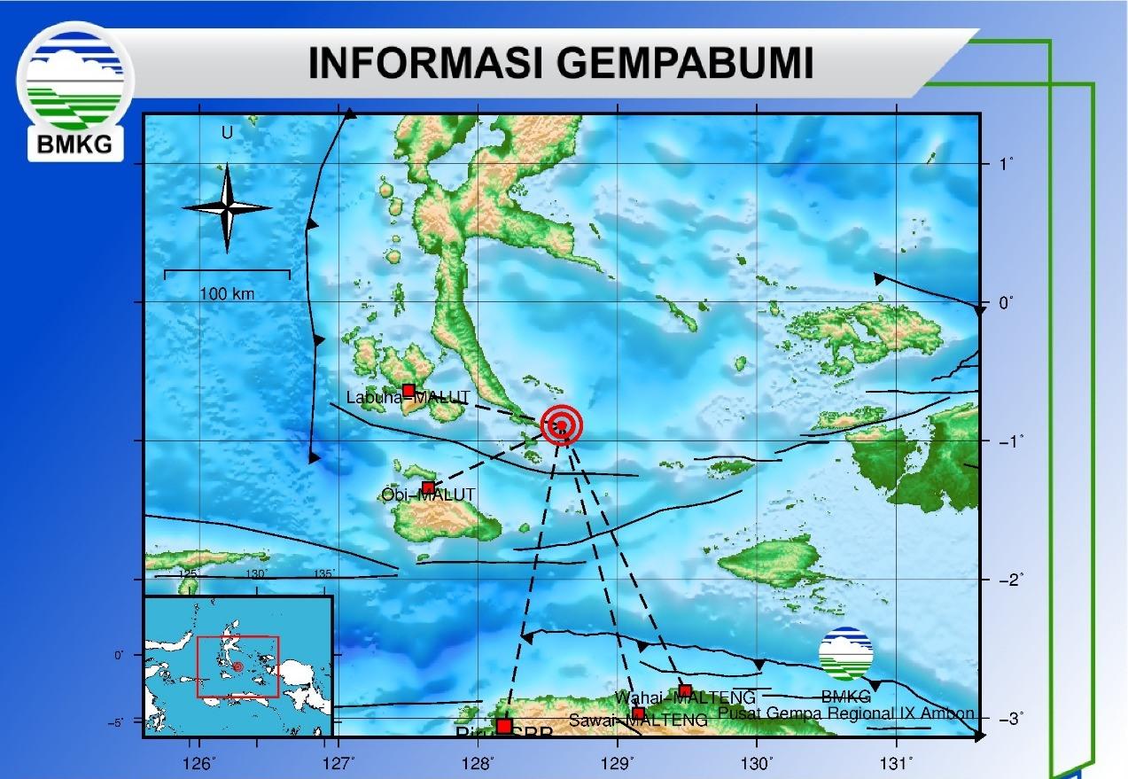 Gempa Bumi M 6,2 Guncang Halmahera