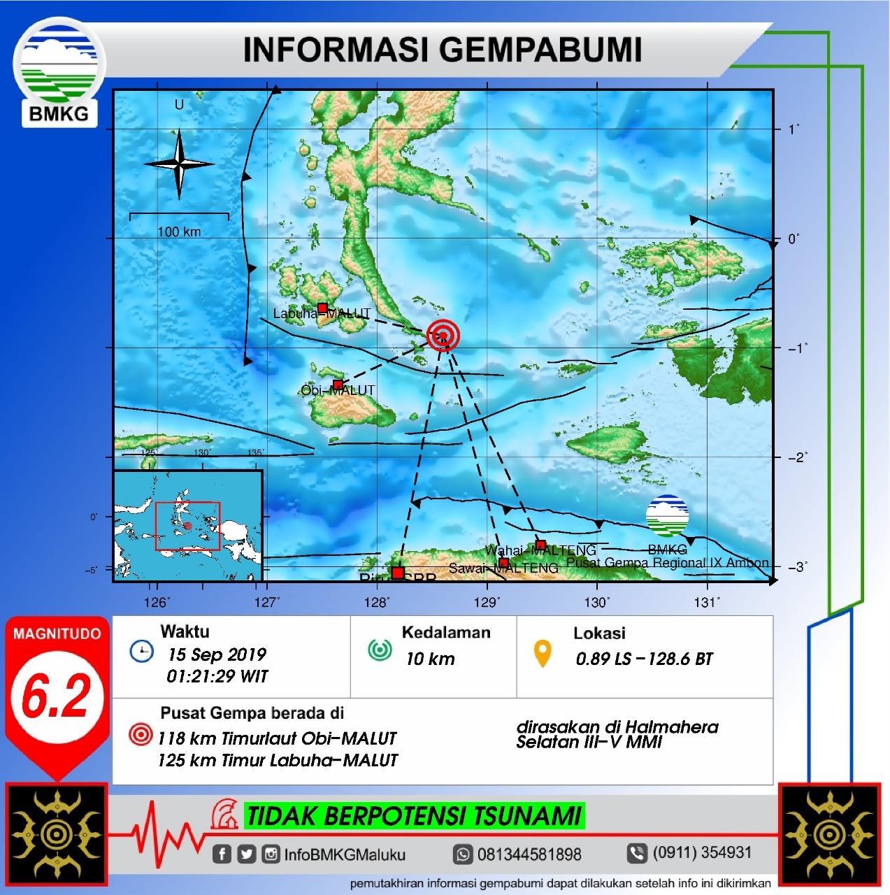 BMKG Ungkap Penyebab Gempa yang Guncang Halmahera Dini Hari Tadi