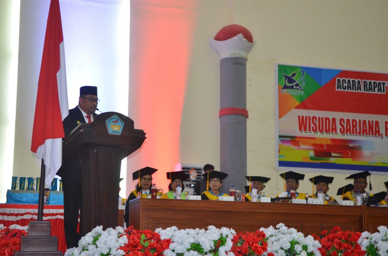 Luluskan 1.207 Sarjana, Gubernur Maluku Berharap Unpatti Tingkatkan Kualitas