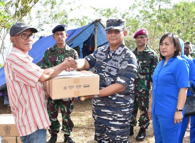 Koarmada III TNI AL Salurkan Bantuan ke Korban Gempa Pulau Ambon dan Sekitarnya