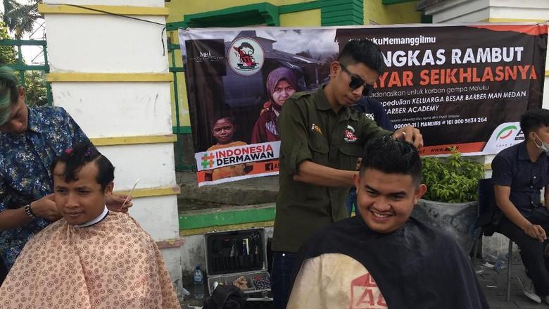 Keluarga Barber Medan Galang Dana untuk Korban Gempa Maluku