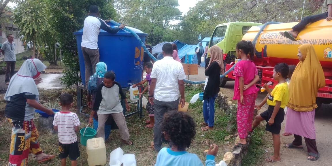 Pasca Gempa, BNPB: Air bersih dan MCK Jadi Kendala di Lokasi Pengungsian