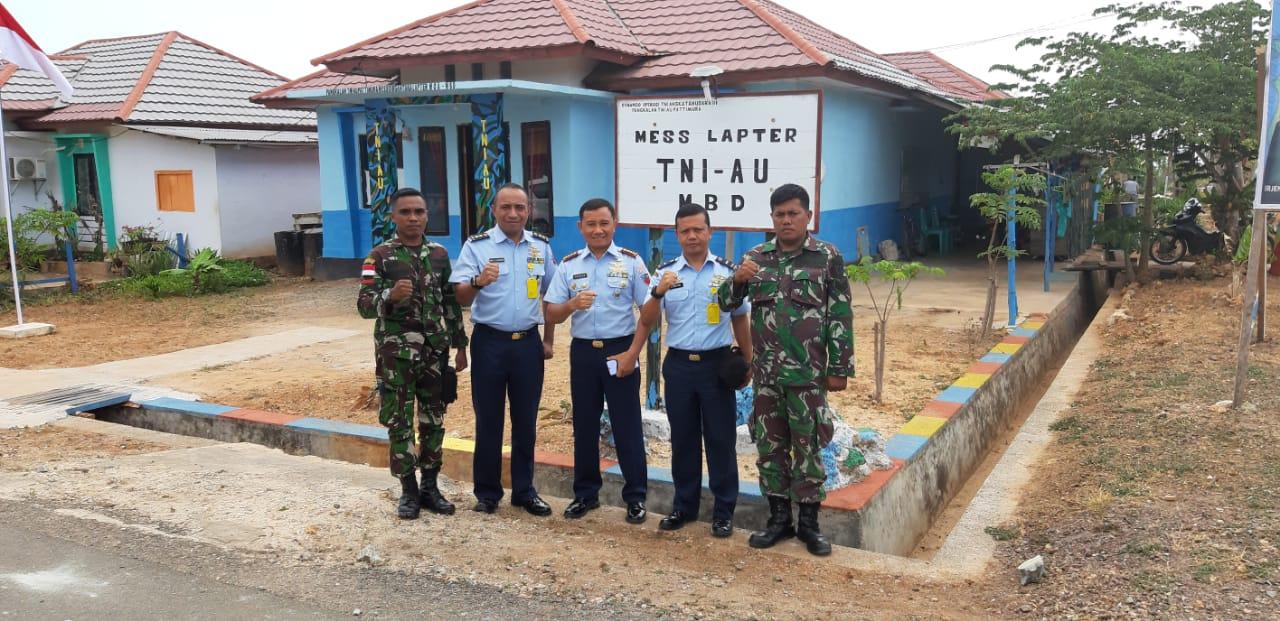 Danlanud Pattimura Tinjau Pos Perwakilan di Lapter Moa