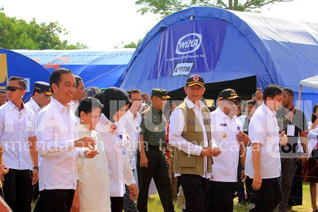 Presiden Jokowi Instruksikan Pembangunan Rumah Yang Rusak Usai Gempa Reda