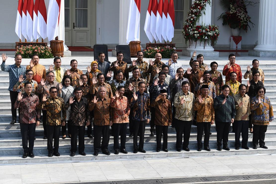 Sah! Jokowi Resmi Lantik Menteri Kabinet Indonesia Maju