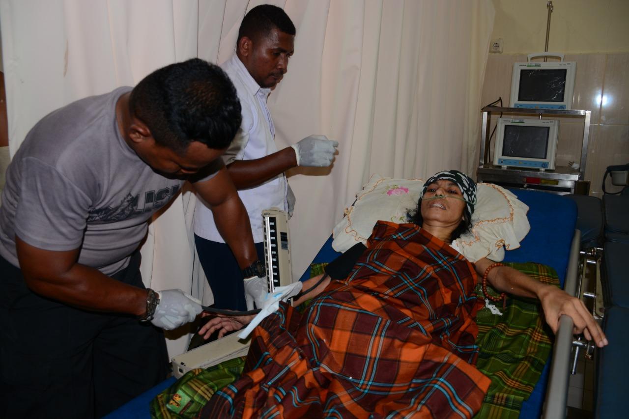 Sempat Terbaring Lemas di Tenda Pengungsian, Penderita Kanker Akhirnya Dirawat di RS Polda Maluku