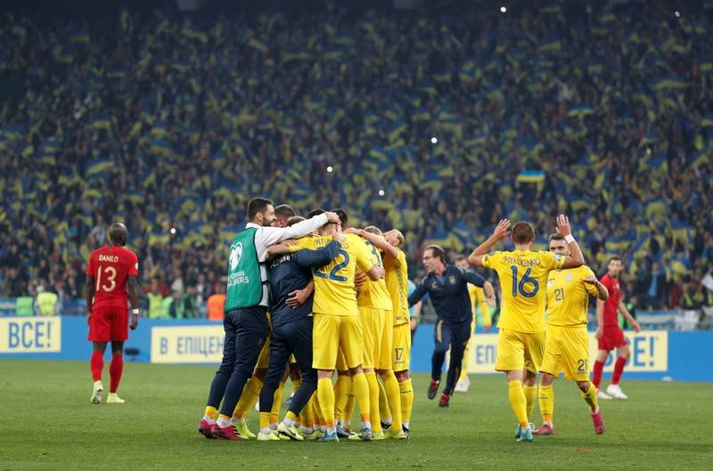 Jungkalkan Portugal, Ukraina Lolos Duluan ke Piala Eropa 2020