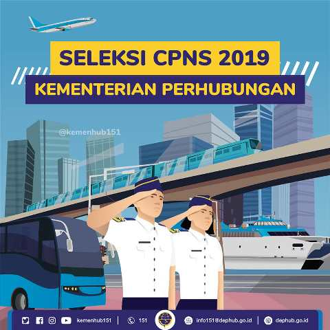Kemenhub Buka 1.244 Formasi CPNS 2019