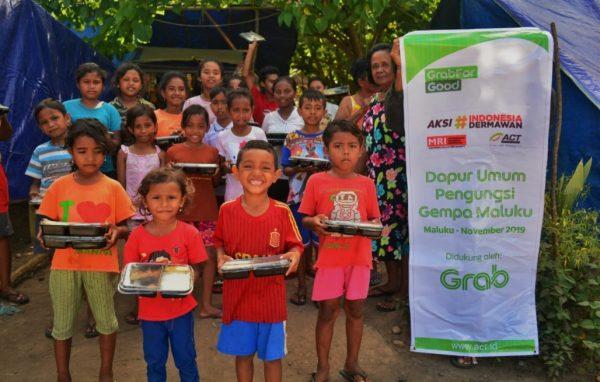 Grab & ACT Ringankan Beban Ribuan Penyintas Gempa Maluku