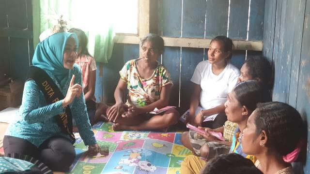 Duta Parenting Maluku Kunjungi Desa Lokus 'Stunting' di Kabupaten Aru