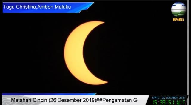 3 Jam Wilayah Maluku Disambangi Gerhana Matahari Sebagian