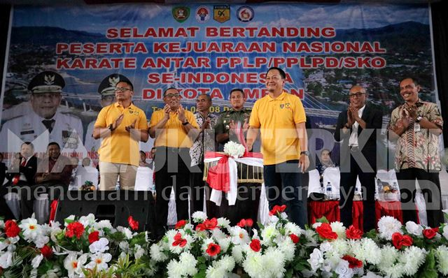 Kejurnas Karate antar PPLP Dimulai, Ini Pesan Gubernur Maluku