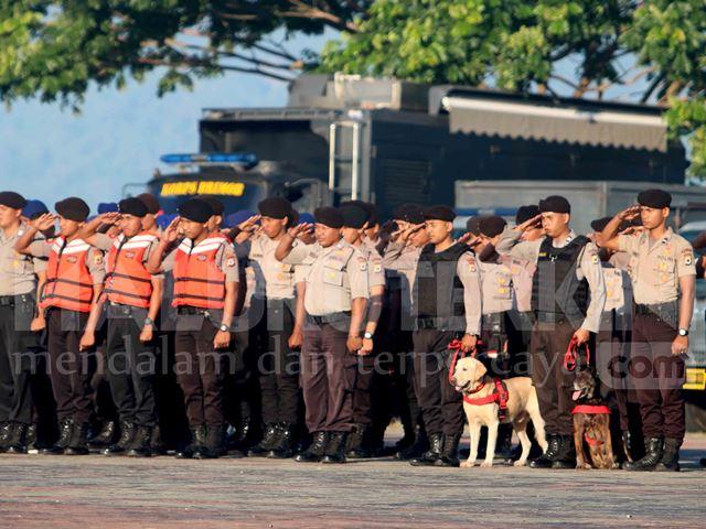 Tanggap Bencana, Polda Maluku Gelar Apel Aman Nusa II