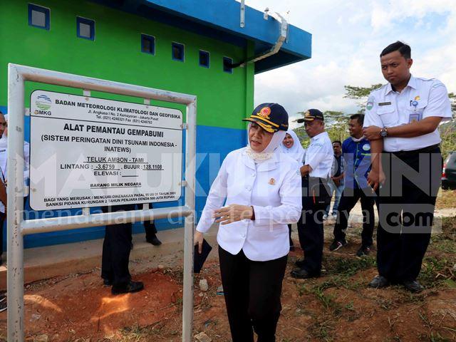 Kepala BMKG Tinjau Shelter Pemantau Gempa Bumi di Ambon