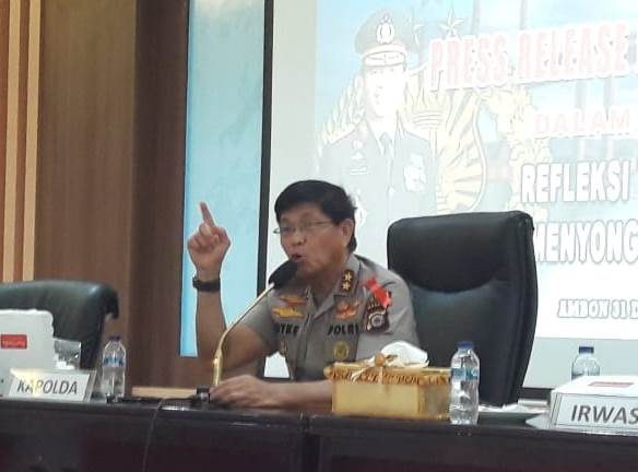 Kapolda: Angka Kejahatan di Maluku Turun Sepanjang Tahun 2019